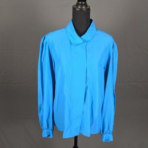 Vintage Blue blouse (A83)